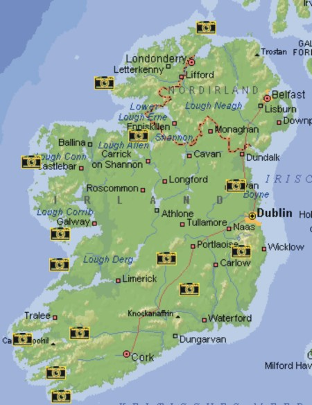 südwest irland karte Karte
